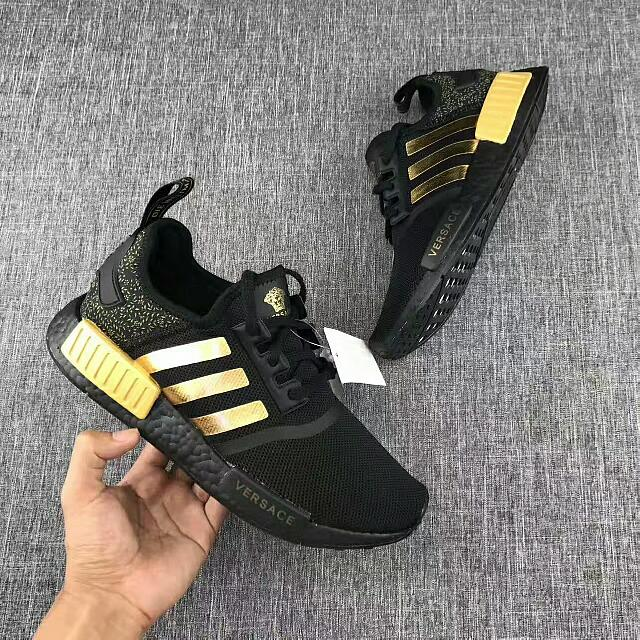 b3f933aced big Discount ADIDAS NMD R1 Core Black / Lush Red Mens Shoes