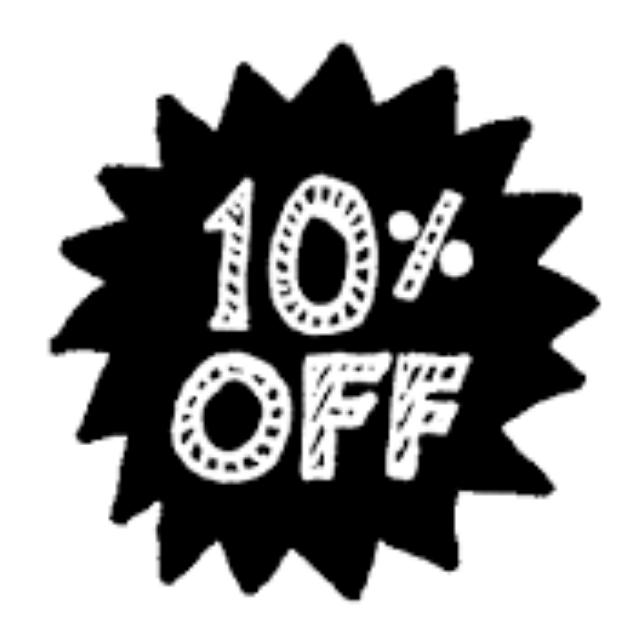 We Are On SALE!!! 10% Off On All Items!!!