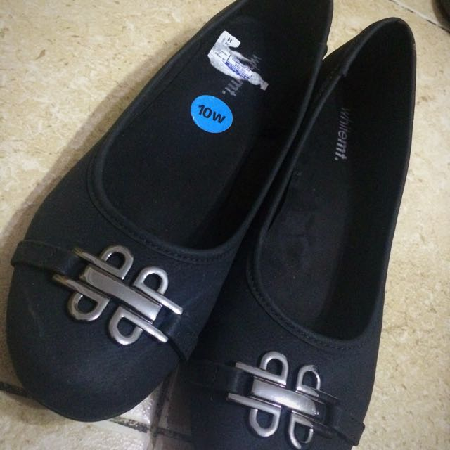 whitemt. Black Shoes