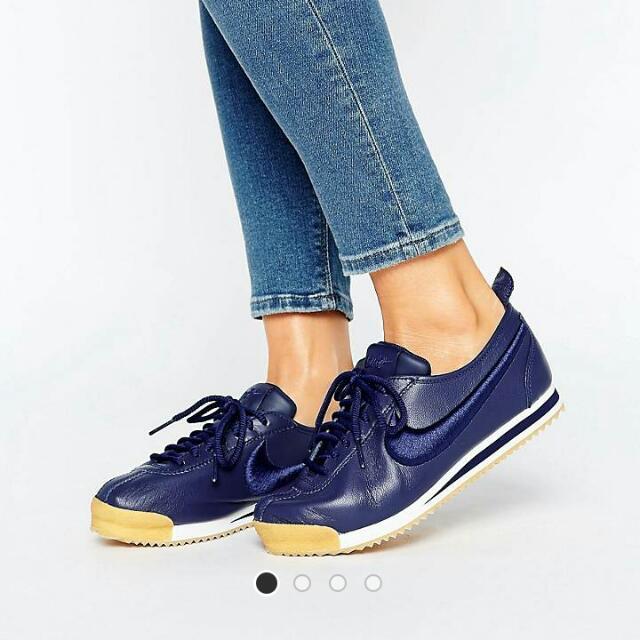ef9f6b85dde4a Women's Nike Cortez 72 Premium Trainers in Navy, Women's Fashion ...