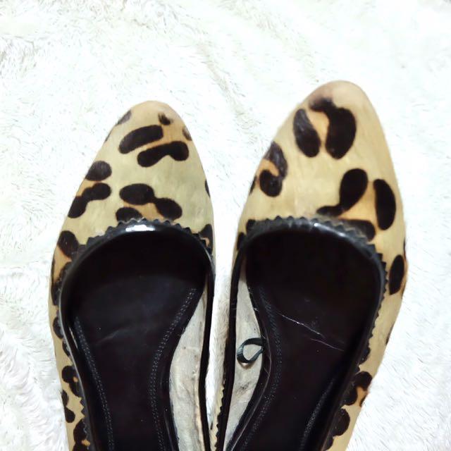 Zara Leopard Flats