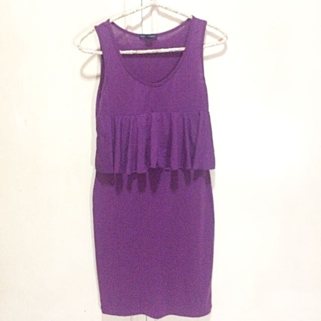 Zara Women Purple Dress