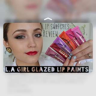 便宜售❣️L.A Girl GLAZED Lip Paints