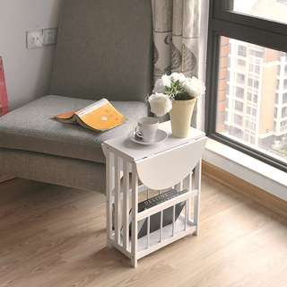 Small Simple Coffee Table Balcony Folding Table 360 Turnaround Bedside Cabinet Living Room Sofa Side Table