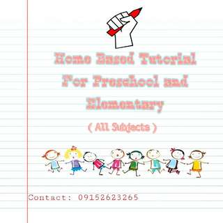 HOME BASED TUTOR (All Subjects)