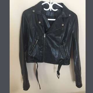 Brandy Melville Faux Leather Moto Jacket