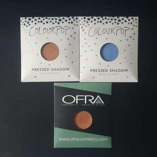 Single Eyeshadows Colourpop & Ofra