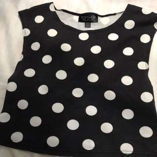 Polka Dot Crop Top!