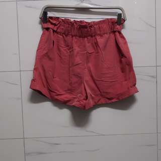 High-waisted Semi-velvet Shorts