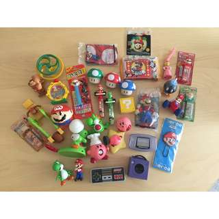 Nintendo Super Mario Bros Kirby Donkey Kong Yoshi Zelda Collectibles - LOT of 32