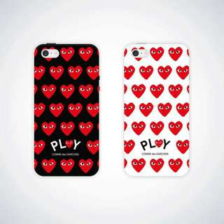 CDG Play Matte Iphone 5 5S SE 6S 6+ 6S+ 7 7+ Case