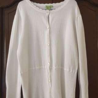 Jill by Rustan's white cardigan
