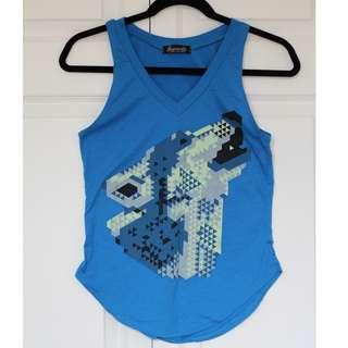 Blue wolf tank top