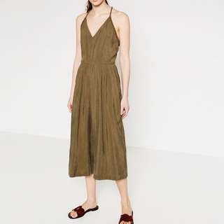 Zara Olive Green Jumpsuit