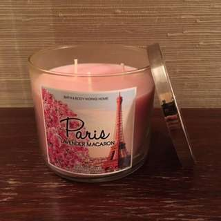 "Lavendar Macaron (""Paris"") 3-wick candle"