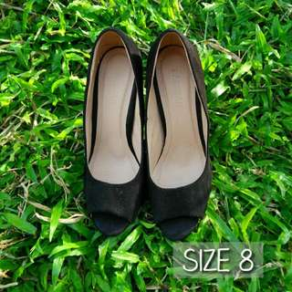 Black Pump Shoes. Black Peep Toe Shoe. Formal Shoes. Office Shoes