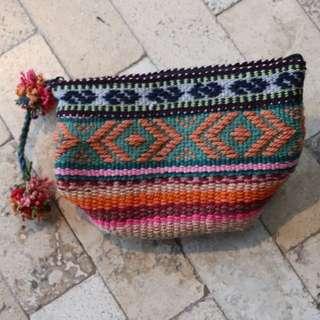 秘魯Cusco 手作小店- 毛冷針織民族手提袋Clutch Bag