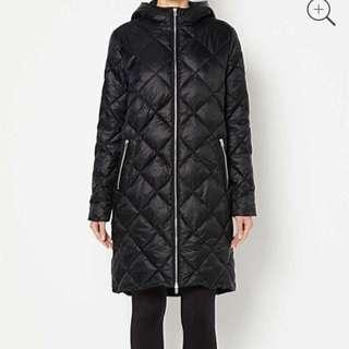 Witchery Ladies Diamond Puffer Black Coat Sz 8