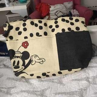 Minnie Mouse Straw Beach Bag