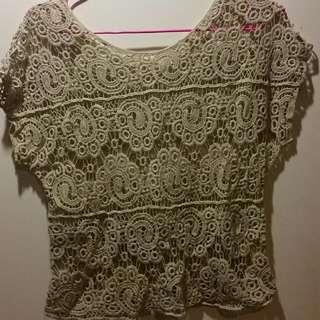 Crochet Top. Size 8-10