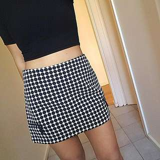 Topshop Mini Skirt Monochrome