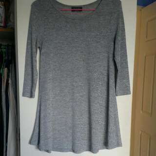 Knitted 3/4 Sleeve Dress. Size M