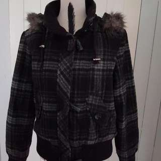 Winter Jacket Grey With Hood Size 12 Would Fit A 10 As Well