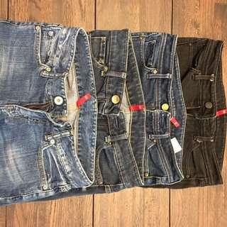 Uniqlo jeans 26x33 Bundle