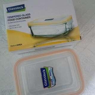 2 Tempered Glass Food Containers  玻璃盒2個