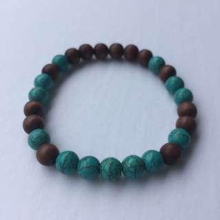 Men's Dyed Turquoise Stretch Bracelet