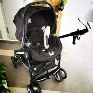 Peg Perego Switch Car Seat With Stroller Frame