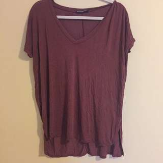 Brandy Melville Burgundy Shirt