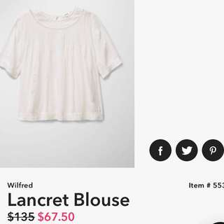 Wilfred (aritzia) Lancret Blouse