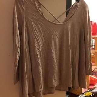 American Eagle XS Open-Back Shirt