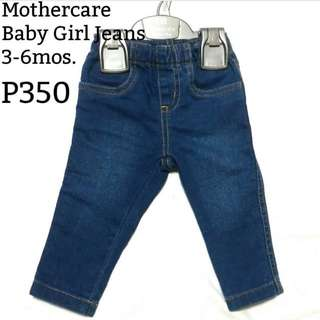 MOTHERCARE Baby Girl Jeans