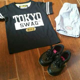 Authentic Nike Baby Air Force 1 8c 15cm Junior Swag Terno 2-3t Sold As Set !