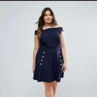 Plus Size Dress (offshoulder) ✨