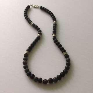 Men's Semi Precious Stone Choker Necklace