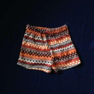 boho aztec shorts