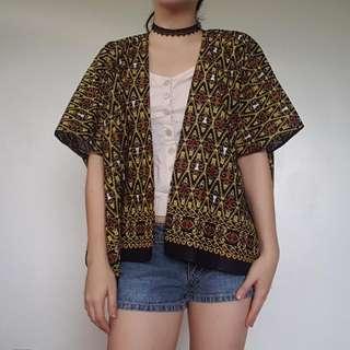 Ethnic Print Kimono