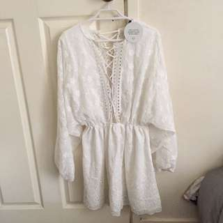 Naked White Playsuit