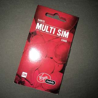 New Virgin Mobile Multi Sim Card