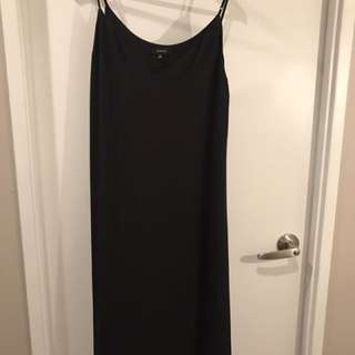 Babaton Black Slinky Midi Camisole Dress