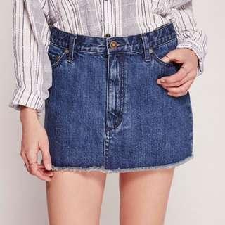 Free People Denim Mini Skirt Size 0