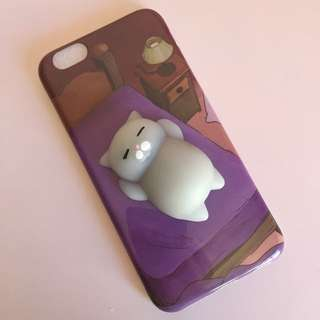 Free Shipping iPhone 6/6s Squishy 3D Cat Silicone Case