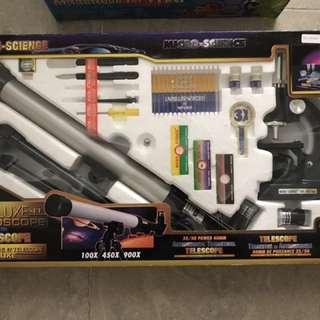 益智玩具-顯微鏡連天文望遠鏡