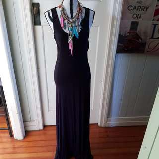 Tigerllly Black Maxi Size 12 Beautiful On Very Flattering