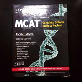 MCAT Kaplan | Complete 7-Book Subject Review | Second Edition