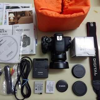600D+2battery+18-50mm lens+lens Hood