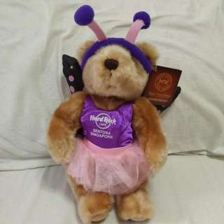 Limited Edition Singapore Sentosa Butterfly Teddy Bear